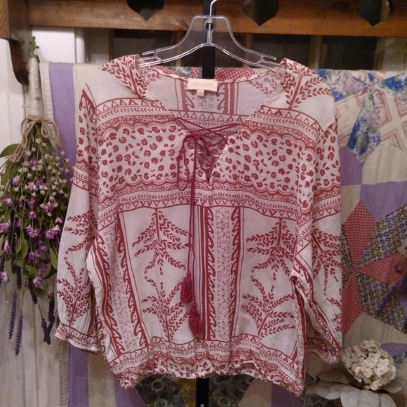 Lucy and Laurel Boho cotton top